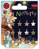 Nativity Stars Metal Charms - Craft Consortium