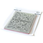 Folk Christmas Pop Out Cling Stamp - Pinkfresh Studio