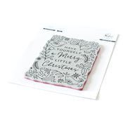 Merry Little Christmas Pop Out Cling Stamp - Pinkfresh Studio