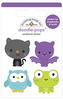 Boo Crew Doodlepop - Doodlebug Introducing Doodle Pops, dimensional die cut stickers! The perfect pop of whimsy and delight, these colorful cardstock stickers are a great addition to any card, tag or gift.  Re-positional adhesive.  Sticker size approx. 1.875 inches  x 1.75 inches .