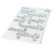 Happy Holidays Phrase Builder Die Set - Pinkfresh Studio - PRE ORDER