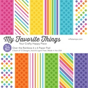 """Over The Rainbow - My Favorite Things Single-Sided Paper Pad 6""""X6"""" 24/Pkg"""