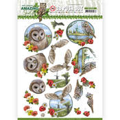 Meadow Owls Punchout Sheet - Find It Trading - PRE ORDER