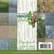 Amazing Owls Double-Sided 6x6 Paper Pad - Find It Trading
