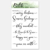 Fancy Christmas Sentiments 4x6 Stamp Set - Picket Fence Studios