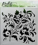 Floral Stencil 6x6 - Picket Fence Studios