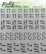 Arrows Stencil 6x6 - Picket Fence Studios
