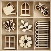 Flower Shoppe Mini Wood Embellishments - KaiserCraft