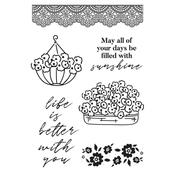 Flower Shoppe Clear Stamps - KaiserCraft
