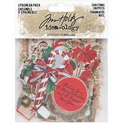 Christmas Idea-Ology Ephemera Pack/Tiny Die-Cuts - Tim Holtz
