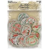 Christmas Idea-Ology Chipboard Milk Caps - Tim Holtz