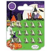 Happy Haunting Witches Hats Metal Charms - Craft Consortium