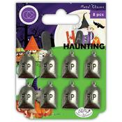Happy Haunting Graves Metal Charms - Craft Consortium
