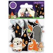 Happy Haunting Laser Cut Wooden Shapes - Craft Consortium