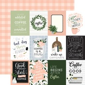 3x4 Journaling Cards Paper - Coffee & Friends - Echo Park