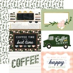 6X4 Journaling Cards Paper - Coffee & Friends - Echo Park