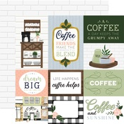 Journaling Cards Paper - Coffee & Friends - Echo Park - PRE ORDER