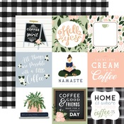 4x4 Journaling Cards Paper - Coffee & Friends - Echo Park - PRE ORDER