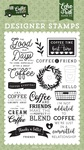 Coffee Addict Stamp Set - Echo Park