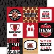 4x4 Journaling Cards Paper - Basketball - Echo Park