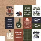 3x4 Journaling Cards Paper - Football - Echo Park