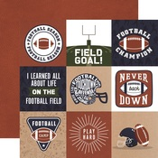 4x4 Journaling Cards Paper - Football - Echo Park
