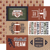 4x6 Journaling Cards Paper - Football - Echo Park