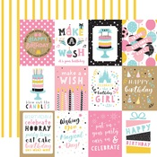 3x4 Journaling Cards Paper - Magical Birthday Girl - Echo Park - PRE ORDER