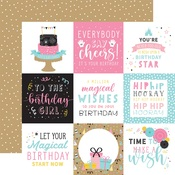 4x4 Journaling Cards Paper - Magical Birthday Girl - Echo Park - PRE ORDER