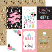4x6 Journaling Cards Paper - Magical Birthday Girl - Echo Park - PRE ORDER