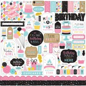Magical Birthday Girl Element Sticker - Echo Park - PRE ORDER
