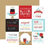 4X4 Journaling Cards Paper - Magical Birthday Boy - Echo Park - PRE ORDER