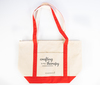 ACOT Red Strapped Premium Canvas Tote Bag
