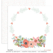 Happy Holidays Paper - Merry & Bright - Cocoa Vanilla Studio
