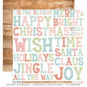 Seasons Greetings Paper - Merry & Bright - Cocoa Vanilla Studio