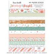 Merry & Bright A5 Paper Stack - Cocoa Vanilla Studio