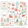 Merry & Bright Die Cut Ephemera - Cocoa Vanilla Studio
