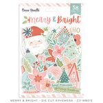 Merry & Bright Die Cut Ephemera - Cocoa Vanilla Studio