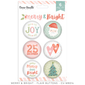 Merry & Bright Flair Buttons - Cocoa Vanilla Studio