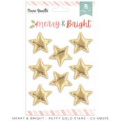 Merry & Bright Puffy Gold Stars - Cocoa Vanilla Studio