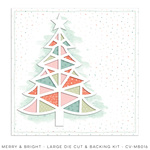 Merry & Bright Large Die Cut & Backing Kit - Cocoa Vanilla Studio