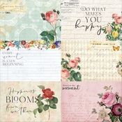 Floral Tapestry 4x6 Journaling Cards Paper 1 - Memory-Place - PRE ORDER