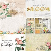 Floral Tapestry 4x6 Journaling Cards Paper 2 - Memory-Place - PRE ORDER