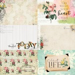 Floral Tapestry 4x6 Journaling Cards Paper 3 - Memory-Place