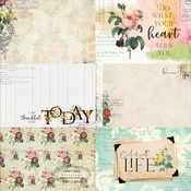 Floral Tapestry 4x6 Journaling Cards Paper 3 - Memory-Place - PRE ORDER