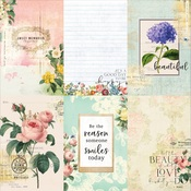 Floral Tapestry 4x6 Journaling Cards Paper 4 - Memory-Place - PRE ORDER