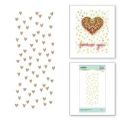Scattered Hearts-Expressions Of Love Glimmer Hot Foil Plate - Spellbinders