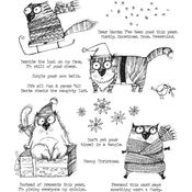 Snarky Cat Christmas Cling Stamp  - Tim Holtz - PRE ORDER