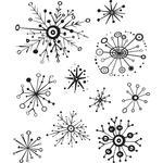 Retro Flakes Christmas Cling Stamp  - Tim Holtz