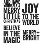 Bold Tidings #2 Cling Stamp  - Tim Holtz